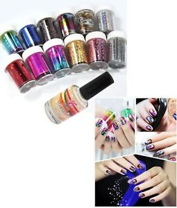 12-Colors-Nail-Art-Transfer-Foil-Sticker-amp-Glue-Set-for-Nail-Tips-Decoration