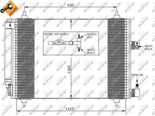 CITROEN C5 RC 1.8 Aire Con Condensador 2004 en CA acondicionado NRF 1610161080 Nuevo