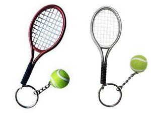 2-grand-porte-cles-bijoux-de-sac-raquette-gris-et-rouge-balle-de-tennis