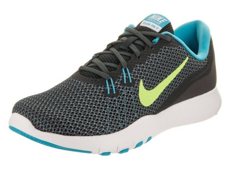Nike Woman's Gray Flex Trainer Ghost 7 Athletic Shoes Anthracite Ghost Trainer Green Size 7 31c001