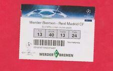 Orig.Ticket  Champions League 2007/08   WERDER BREMEN - REAL MADRID  !!  SELTEN
