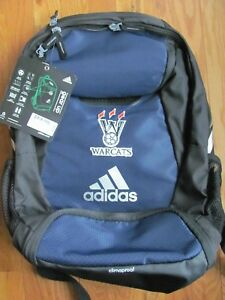 adidas Climaproof Stadium Team Gear Up Backpack Navy Black Warcats ... 47e82ee805651