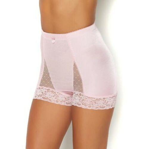 Rhonda Shear Light Nude Mesh Dot Pin-Up Retro High Waist Panties New