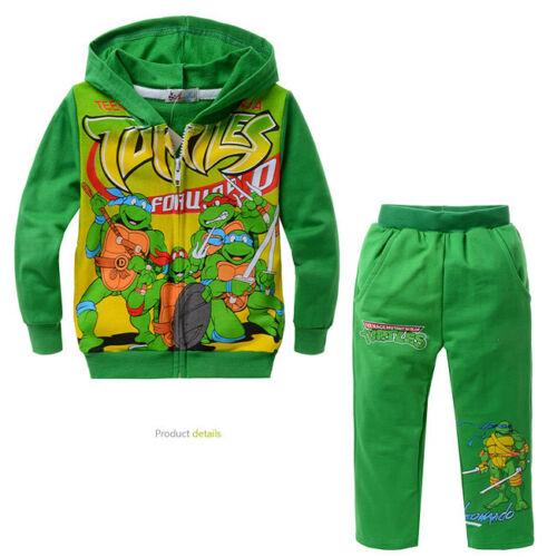 Pants Outfit Clothes Suit Set Teenage Mutant Ninja Turtles Baby Boy Kids Hoodie