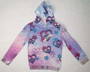 Hannah Montana girls full zip hoodie sequin trim sweatshirt 100/% cotton jacket
