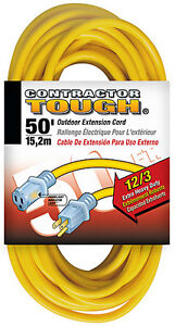 50 Ft 12 3 12 Gauge Heavy Duty Power Extension Cord