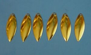6-Worth #4 Or Mat Finition willow leaf Shallow Cup Spinnerbait Lame 94834-M