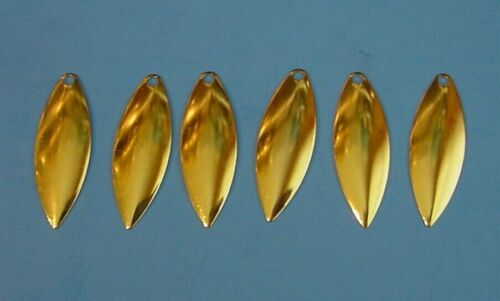 Worth #4 GOLD Matte Finish Willow Leaf *Shallow Cup Spinnerbait Blade 94834-M 6