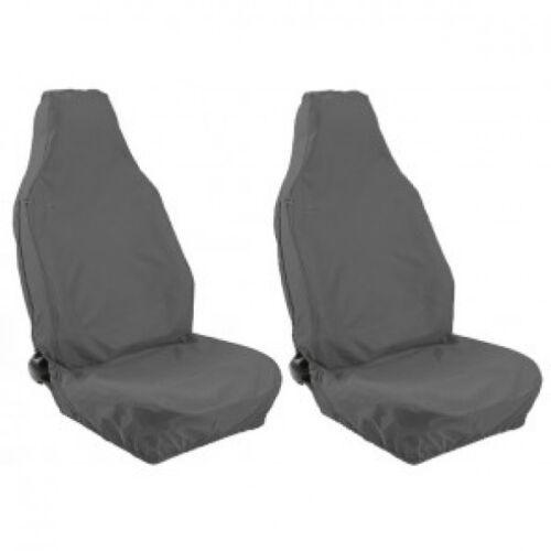 11 en Frente Gris Resistente Par de Cubierta de asiento de coche Ford fiesta MK7
