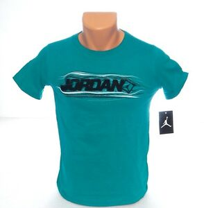 Nike-Jordan-Teal-Short-Sleeve-Tee-T-Shirt-Youth-Boy-039-s-Small-S-NWT