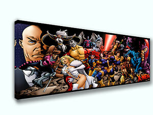 X-Men Dr X  Magneto  Panoramic Picture Canvas Print Home Decor Wall Art