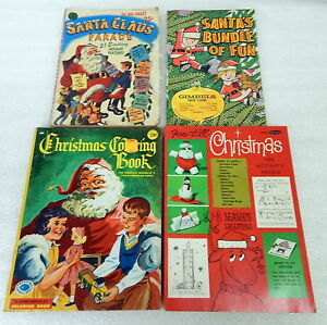 image is loading group vintage christmas coloring activity books gimbels santa