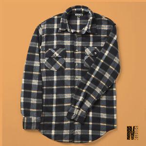 Mens-Checked-Long-Sleeved-Shirt-Black-Lumberjack-Hipster-Style-Shirts-M-L-XL-XXL