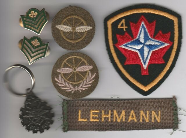 Army Transport Trade Badges NATO 4th Mechanized Badge Sgt Collars CFCL Keychain
