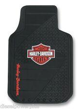 harley davidson motorcycle floor mats bike  bar shield rubber car truck auto hd