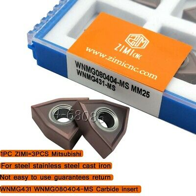WNMG080404-MA Carbide insert Process Steel for MWLNR//L Turning tool WNMG431 MA