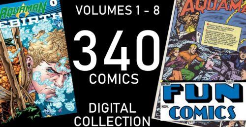 AQUAMAN VOLUMES 1-8 IN DIGITAL 340 COMICS