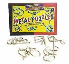 1960s 6-piece Metal Retro Puzzles Set Mind Game Educational House of Marbles
