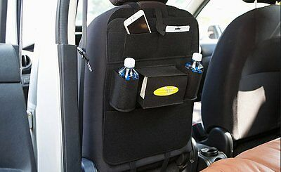 Tidy Auto Car Back Seat Multi Pocket Storage Organizer Tissue Holder Felt Bag