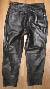 "WOW!!! "" APOLLO "" Herren- LEDERJEANS / Lederhose in schwarz in ca. W33"" /L29"""