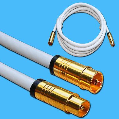 135 dB TV Antennenkabel Kompressions Koax-Stecker  Koax-Buchse VERGOLDET FULL HD