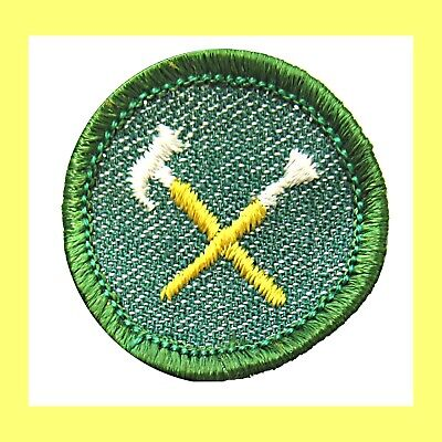 HANDYWOMAN 1950s Girl Scout NEW Badge Hammer Paint Brush Patch Merrow Edge