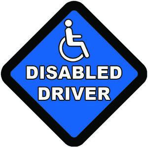 DISABLED DRIVER car sticker Disabled vinyl