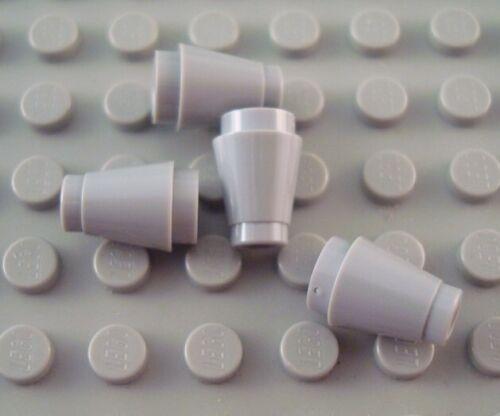 New LEGO Lot of 4 Light Bluish Gray 1x1 Brick Creator Cone Pieces