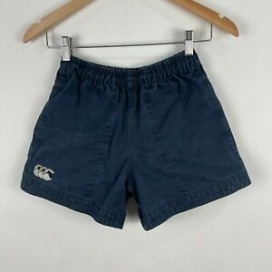 Canterbury-Mens-Rugby-Shorts-28-Blue-Elastic-Waist-Drawstring-Pockets