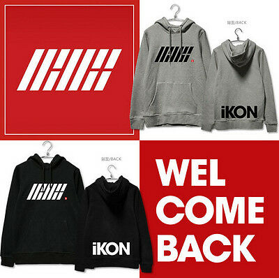 Kpop IKON Cap Hoodie Welcome Back BOBBY B.I Sweater Hoody 4 Color Thick Warm New