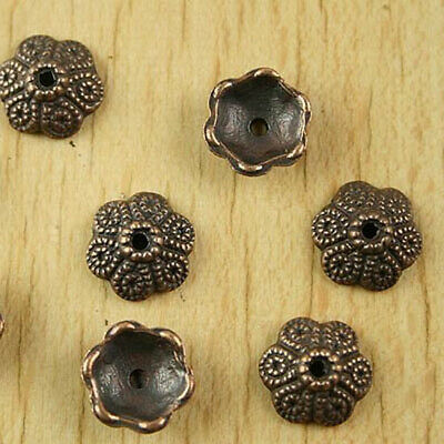 3pcs bronze tone studded spacer beads h3330