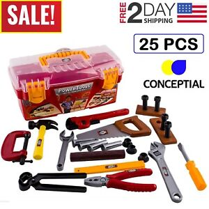 Toddler-Boy-Toy-Tool-Box-Educational-Pretend-Play-Girl-Kids-Learning-Game-25-Pcs
