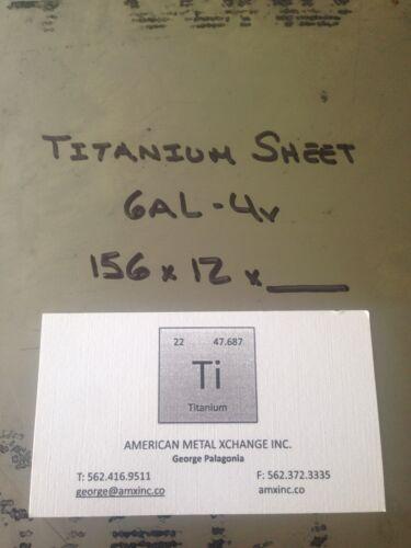 """TITANIUM SHEET 6AL-4V .156/"""" X 12/"""" X 12/"""""""