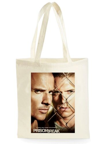 PRISON BREAK MOVIE POSTER COOL SHOPPING CANVAS TOTE BAG IDEAL GIFT PRESENT