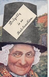 Postcard-DOLGELLY-IS-SO-HAT-TRACTIVE-Ref-C21