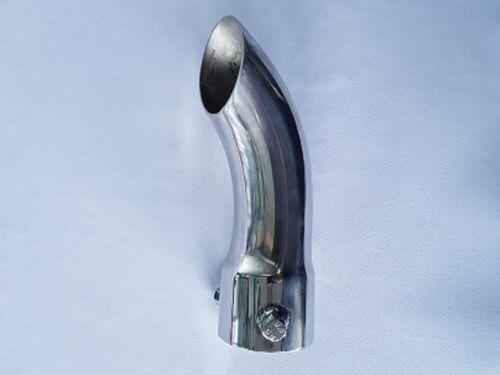 Tutte le dimensioni Bolt On CURVO Curl verso il basso di scarico tubo di coda in Acciaio Inox Finiture Punta