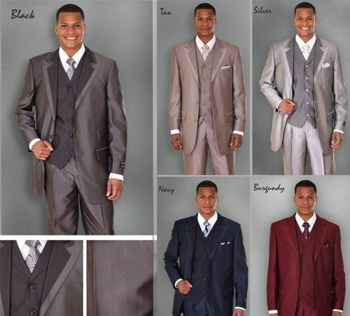 Pants Vest 5907v Milano Moda Men/'s 3 Piece High Fashion Modern 3 Button Suit