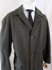 PENDLETON brown blue tattersall plaid wool men's winter coat XL