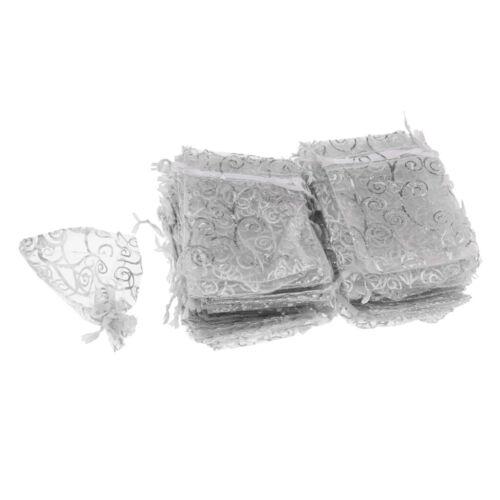 100x Organzabeutel Organzasäckchen Geschenk Schmuckbeutel Süßigkeiten Beutel
