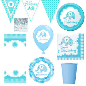 Boy-Boys-Christening-Party-Tableware-Decorations-Blue-Elephant