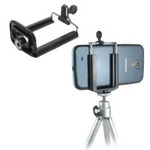 Universal Mobile Phone Smartphone Holder Clamp Selfie Tripod Mount Adapter Black