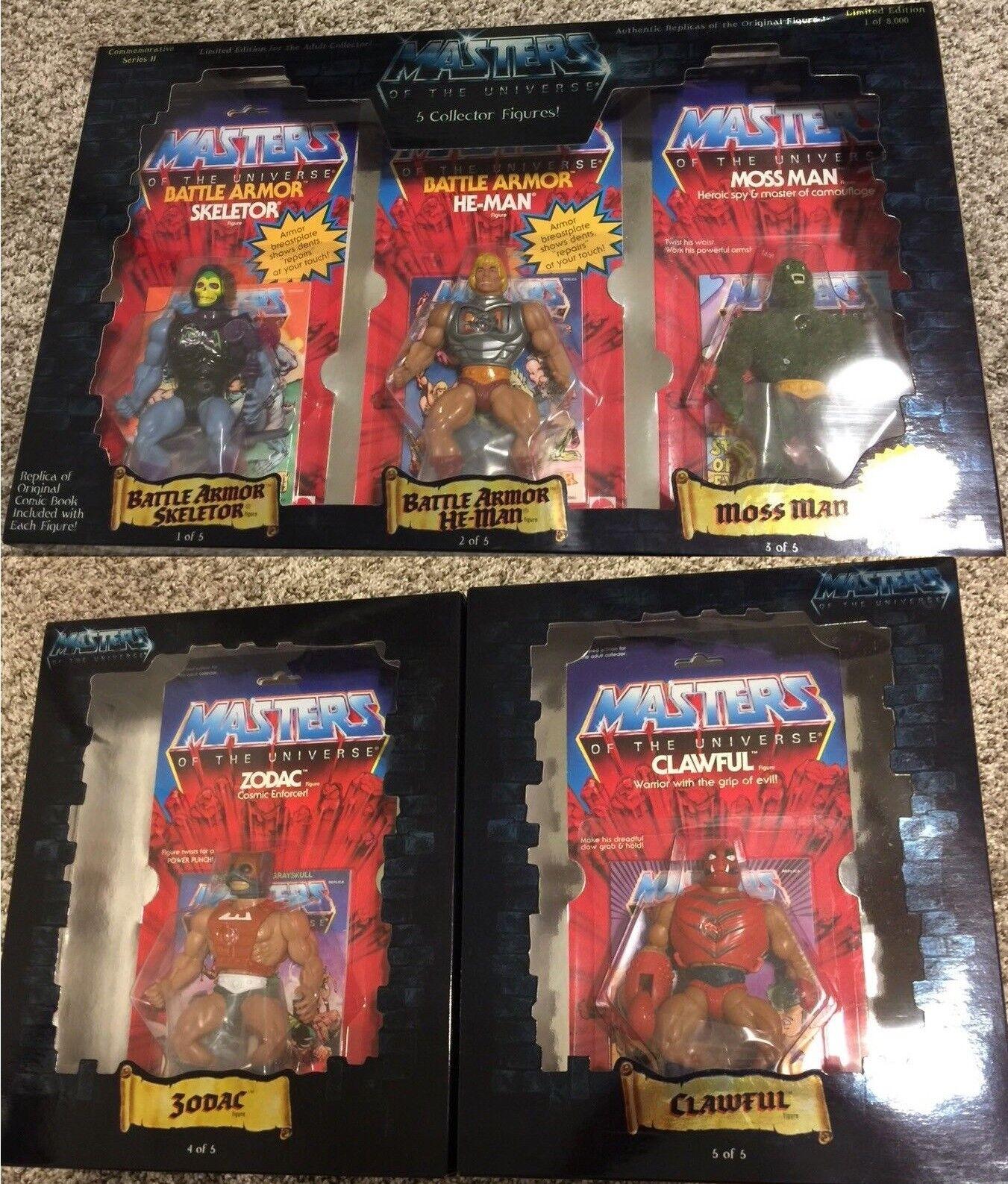Masters of the Universe Commemorative 2 He-uomo He-uomo He-uomo 5 cifras Set MOC Sealed MOTU a8424f