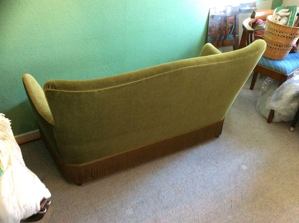 Sofa, velour, 2 pers.