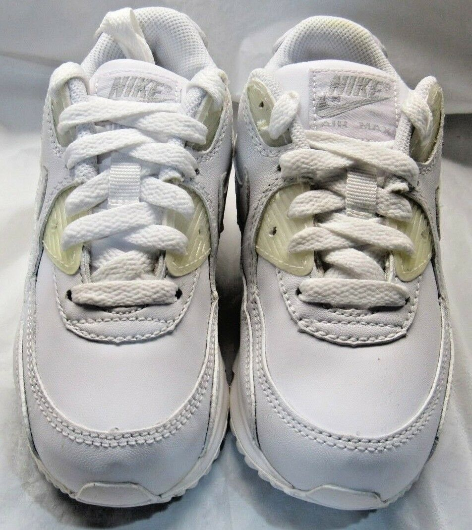 NIKE 307794-111 Sneakers AIR MAX 90 (PS) All White Sneakers 307794-111 Size 11c 0647df
