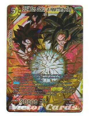SS4 Son Goku Dragon ball Super TCG SR New a Heartfelt Plea