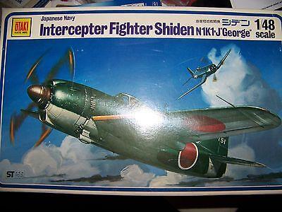 """Japanese Navy Intercepter Fighter Shiden N1K1-J """"George"""" 1/48 Scale by Otaki"""