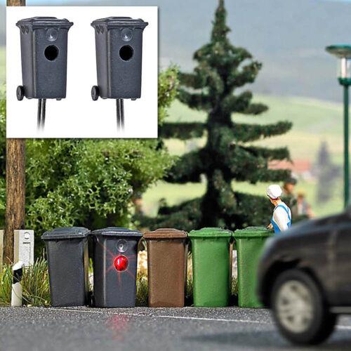 Busch HO 5633 Zwei Mülltonnenblitzer #NEU in OVP#
