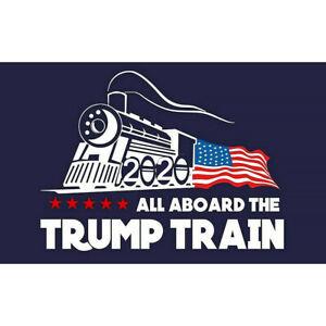 5Pcs-set-Blue-Donald-Trump-Bumper-Sticker-2020-All-Aboard-The-Trump-Train