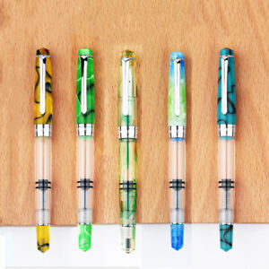 NEW-Penbbs-Moonman-Piston-Fountain-Pen-309-Large-capacity-Transparent-Pen-amp-Box