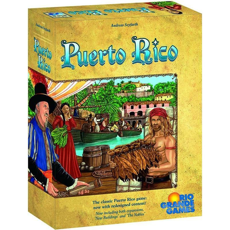 Puerto Rico Board Game with Expansions English Edition Factory Sealed